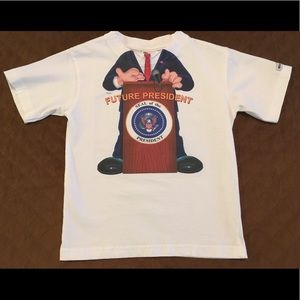 "Just add a kid ""Future President"" white t-shirt 4T"